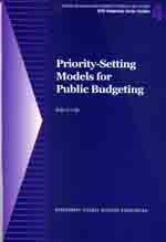 Priority-Setting Models for Public Budgeting